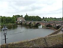 SJ4065 : Dee Bridge from the City Walls by Richard Law