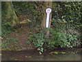 SK8933 : Grantham Canal milepost by Alan Murray-Rust