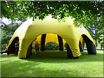 H4573 : Inflatable tent, Omagh by Kenneth  Allen