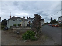 SX4563 : War memorial and public well, Bere Ferrers by David Smith