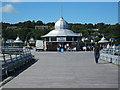 SH5873 : Tea Rooms on Garth Pier by Richard Hoare