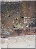 SJ4065 : OS benchmark - Chester, Nuns Road opposite Blackfriars by Richard Law
