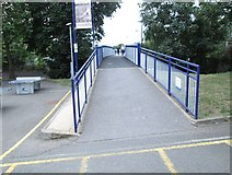 SP5006 : Footbridge over Botley Road - viewed from Oxford Station by Betty Longbottom