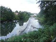 SO5074 : Weir, River Teme, Ludlow by David Brown