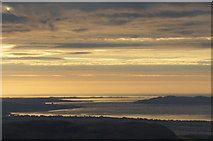 NO3927 : Sunrise over the Tay Bridges at Dundee, from the air by Mike Pennington