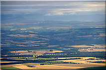 NO1634 : Whitefield, and the view to Blairgowrie and Drumderg, from the air by Mike Pennington