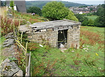 SE0813 : Colne Valley Sculpture Trail #4 (derelict building) by Humphrey Bolton