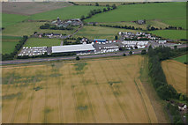 NO2426 : Businesses beside the A90 at Inchmichael, from the air by Mike Pennington