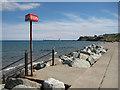 NZ8811 : Steps into the sea by Pauline E