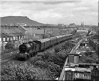 J3272 : Steam train approaching Tate's Avenue bridge - 1989 by The Carlisle Kid