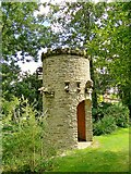 SO3656 : Dovecot and water tower, Westonbury Mill by Philip Pankhurst