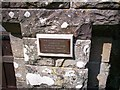 SN1107 : Plaque Begelly Church by welshbabe