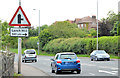 "J4380 : ""Side road ahead"" sign, Craigavad by Albert Bridge"