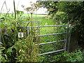 SJ1278 : Kissing gate for path to Mynydd Mostyn by Maggie Cox