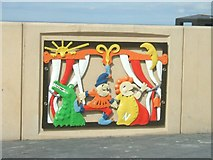 NZ6025 : Punch and Judy on Redcar seafront by John M