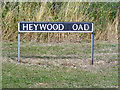 TM1083 : Heywood Road sign by Adrian Cable