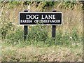 TM0884 : Dog Lane sign by Adrian Cable