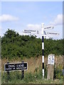 TM0884 : Roadsign on Dog Lane by Adrian Cable