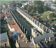 ST5545 : Vicar's Close, Wells by Edwin Graham