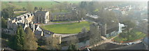ST5545 : Panoramic view of the Bishop's Palace, Wells by Edwin Graham