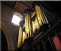 SO5174 : Organ pipes in St. Laurence's Church, Ludlow by Dave Croker