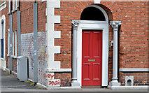 J3372 : Doorway, The Plains, Belfast by Albert Bridge
