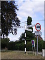 TM1085 : Roadsign on the B1077 The Street by Adrian Cable