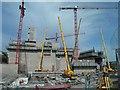 SX4457 : Devonport energy from waste construction site by Steve  Fareham