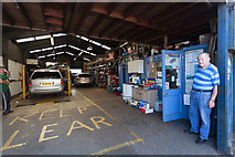 SU4212 : Radcliffe Road Garage, Northam by Peter Facey