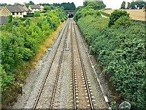 ST9897 : The line towards Swindon, Kemble Railway Station, Kemble (1) by Brian Robert Marshall