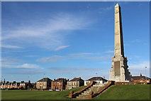 NX1897 : War Memorial, Stair Park, Girvan by Leslie Barrie