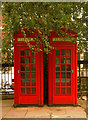 TQ2775 : Pair of K2 telephone boxes, Battersea by Jim Osley