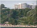 SZ0990 : Bournemouth: East Cliff Zig-Zag from the sea by Chris Downer