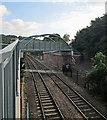 SK5839 : The new railway footbridge at Trent Lane by John Sutton