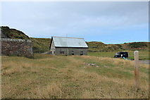 NX1430 : Mull of Galloway Trail at East Tarbet with Waymarker by Billy McCrorie