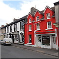 SN7634 : Colourful pet shop in Llandovery by Jaggery