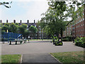 TQ3279 : Tabard Gardens, outdoor gym by Stephen Craven