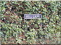 TG2805 : Mill Lane sign by Adrian Cable