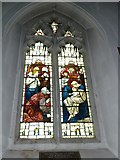 TQ1649 : St Martin, Dorking: stained glass window (E) by Basher Eyre