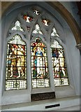 TQ1649 : St Martin, Dorking: stained glass window (L) by Basher Eyre