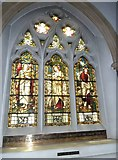TQ1649 : St Martin, Dorking: stained glass window (N) by Basher Eyre