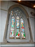 TQ1649 : St Martin, Dorking: stained glass window (P) by Basher Eyre