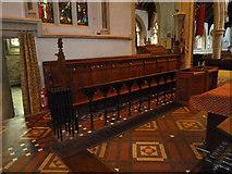 TQ1649 : St Martin, Dorking: choir stalls by Basher Eyre