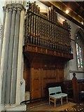 TQ1649 : St Martin, Dorking: organ by Basher Eyre