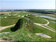 NZ2377 : Northumberlandia viewed from her forehead by Russel Wills