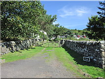 NS0853 : The entrance to Dunagoil, Bute by Ian S