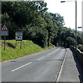 SO2972 : Welcome to Shropshire, Knighton by Jaggery
