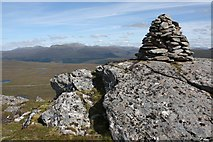 NH1476 : Summit Cairn, Meall an t-Sithe by Dorothy Carse