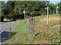 SU9648 : Surrey Hills marker post by Alan Hunt