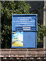 TM2494 : St.Margarets Church Notice Board by Adrian Cable